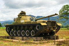 Vietnam American tank. American tank captured from the Americans during the Vietnam war Stock Image