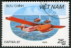 VIETNAM - 1987: amfibiska Rohrbach för shower talarstolar, serie Hafnia 87 Arkivbild