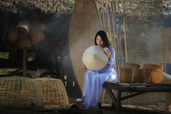 VIetnam. Ao dai is famous traditional costume for woman in VIetnam Stock Photography