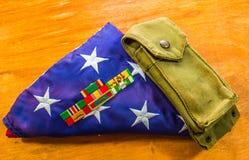 Vietnam-Bänder mit amerikanischer Flagge Stockbilder