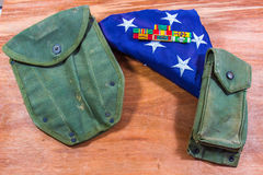 Vietnam-Bänder mit Einzelteilen der amerikanischen Flagge u. des Feldes Lizenzfreies Stockfoto
