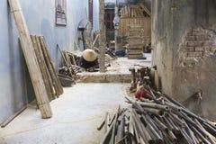 Vietnam Bac Ninh landskap, Xuan Lai bambuby Royaltyfri Foto