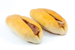 Vietnam baguette. Isolated vietnam baguette on white background Royalty Free Stock Photography