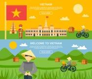 Vietnam Banner Set Stock Image