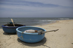 Vietnam Beach fishing boats Stock Image