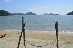 Vietnam beach. Lovely beach in Vietnam with a comfortable and appealing royalty free stock photography