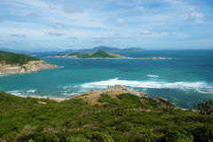 Vietnam beach, Ninh Thuan, travel, Vinh Hy Stock Photo