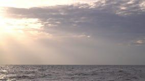 vietnam Belle chute de soleil sur la haute mer déclin L'état apaisé clips vidéos