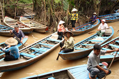 Vietnam boats at Mekong River Royalty Free Stock Image