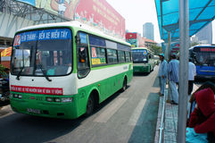 Vietnam bus station Stock Image