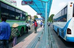 Vietnam bus stop Stock Photo