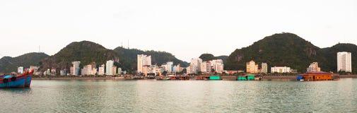 Vietnam. Cat ba island cityscape view stock photography