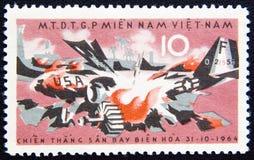 Vietnam circa mit USA-Explosion aircraft1964 Stockbild