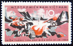 Vietnam circa with USA blast aircraft1964 Stock Image