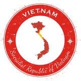 Vietnam circular patriotic badge. Royalty Free Stock Photography