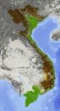 Vietnam, correspondencia de relevación Fotografía de archivo libre de regalías