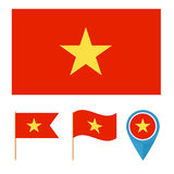 Vietnam, country flag Royalty Free Stock Photos