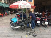 Vietnam street service Royalty Free Stock Photography