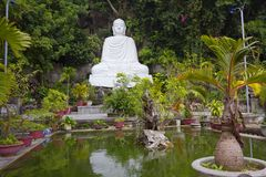 Vietnam. Da Nang. Buddha temple in the Marble mountains. Stock Photography