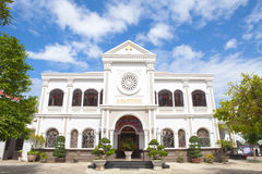 Vietnam Danang Cathedral. The church was originally in 1923 for the construction of local French people, has now become more than four thousand Catholics serving Stock Images