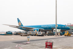 Vietnam Danang flygplatsgrov asfaltbeläggning Royaltyfri Foto