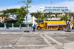 Vietnam Danang International Airport tanker truck Royalty Free Stock Photography
