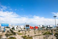 Vietnam Danang internationell flygplats Arkivfoto