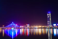 Vietnam Danang natt Royaltyfri Bild