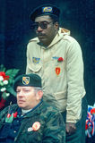 Vietnam disabled veteran at the Vietnam Memorial,. 'Weeping Wall', Washington, DC Stock Image