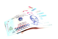 Vietnam Dong Banknote 500000 Dong Royaltyfri Bild