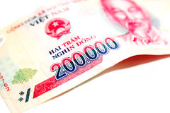 Vietnam Dong Banknote 200000 Dong Royaltyfria Bilder