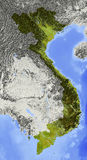 Vietnam, Entlastungskarte Stockfotos