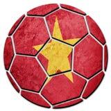 Vietnam för medborgare för fotbollboll flagga Vietnam fotbollboll Royaltyfri Foto