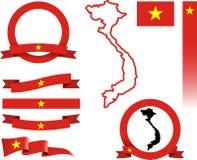 Vietnam-Fahnen-Satz Lizenzfreie Stockfotografie