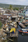 Vietnam Fishermans slumkvarter Arkivfoto