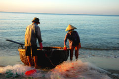 Vietnam fishermen Royalty Free Stock Images