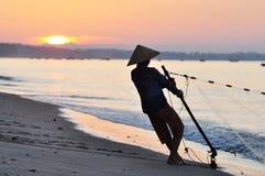Vietnam fisherwoman Royalty Free Stock Photo