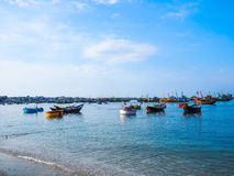 Vietnam fiskares fartyg Arkivfoton
