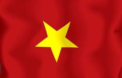 Vietnam Flag. Flag of Vietnam waving in the wind vector illustration