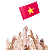 Vietnam Flag asia hands nation Royalty Free Stock Images