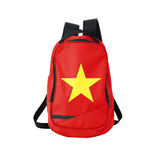 Vietnam flag backpack isolated on white Stock Photos
