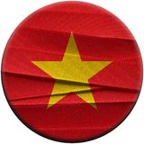 Vietnam flag or banner. Made with red ribbons royalty free stock images