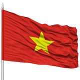 Vietnam Flag on Flagpole Stock Image