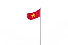 Vietnam flag isolated on white background. Vietnam flag on metal post isolated on white background stock images
