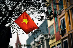Vietnam Flag. Vietnam Flag in laocai for building background stock photography