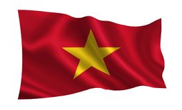 Vietnam flag. A series of `Flags of the world.`   The country - Vietnam flag. Vietnam flag.  A series of `Flags of the world.`   The country - Vietnam flag Stock Image