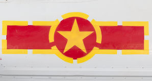 Vietnam Flag Symbol Aircraft. Vietnam Flag Symbol on Air force Plane stock photo