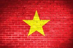 Vietnam flag,wall texture background Stock Photos