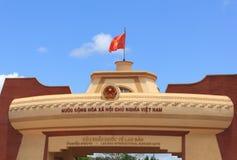 Vietnam flagga Arkivbild
