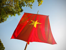 Vietnam flagga Royaltyfri Bild